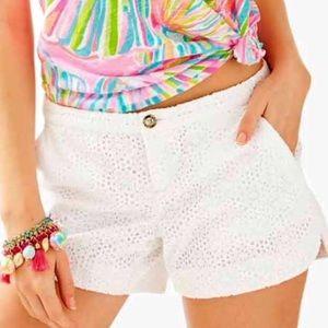 Lilly Pulitzer Adie Eyelet Plus Size Shorts